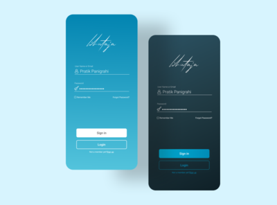 Daily UI challenge Day 1: Sign up Login. blue app design illustration web landingpage app ui uiux ux minimal design