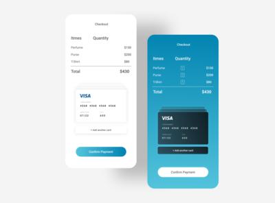 Daily UI Challenge Day 2 dailyui blue app design app ui uiux ux minimal design