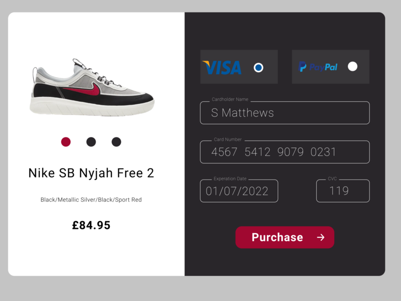 Daily UI  #2 dailyui checkout page checkout nike web daily 100 challenge concept dailydesignchallenge ui uidesign interface dailydesign