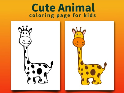 Cute Animal Coloring Page for Kids illustration lineart animal coloringbook coloring coloringpages