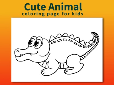 Cute Animal Coloring Page for kids design illustration coloringpages coloringbook coloring animal