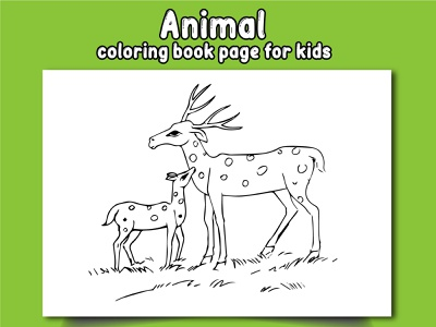 Animal Coloring Book Page For Kids illustration design coloringpages coloringbook coloring animal