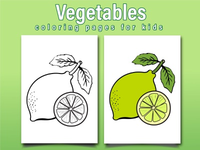 Vegetables Coloring Page For Kids branding ui logo design vegetables illustration coloringpages coloringbook coloring