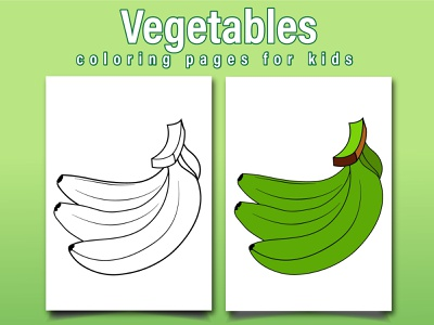 Vegetables Coloring Page For Kids branding vector ui logo design illustration coloringpages coloringbook coloring