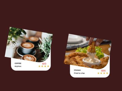 FOOD CARD daily 100 challenge desiginspiration prototype design dailyui food
