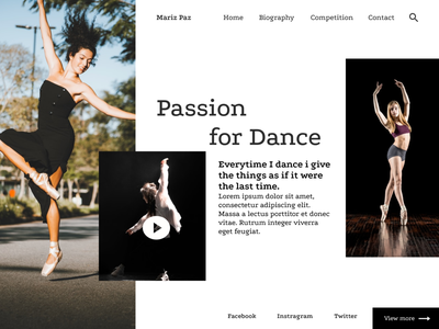 Passion for desgin passionate dance animation @2x community uiux design topology uidesign dashboard daily 100 challenge dailyui