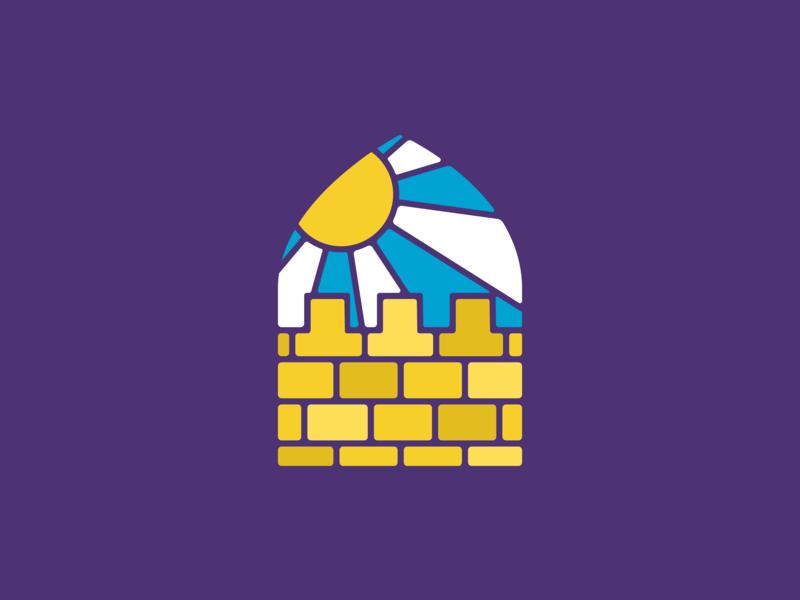 Jerusalem City branding illustration logo icon