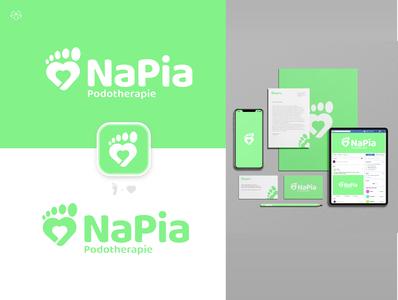 NaPia Podio - Logo & corporate identity - Name branding