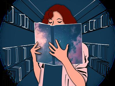 The smell of Books addiction books reader illustration breathe smellofbooks vectorart reading booklover digitalart illustrator design