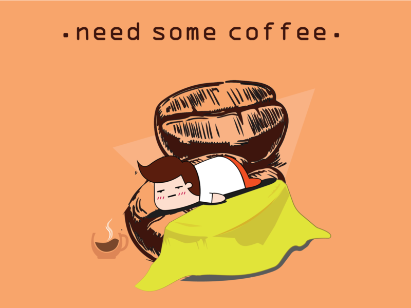 NEED SOME COFFEE hangover coffee vectorart illustrator illustration design coffeelover