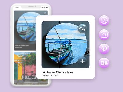 DAILY UI : SOCIAL SHARE design ui designeveryday dailyuichallenge dailyui share button pinterest instagram dribbble