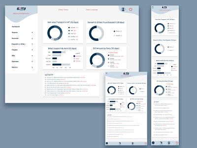 dashboard responsive design ux ui app web design