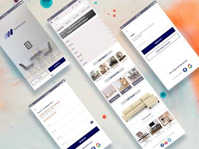 Mock up designs website icon branding logo ux ui design app