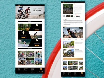 roar bike mockup cycle bike website logo icon ux ui design