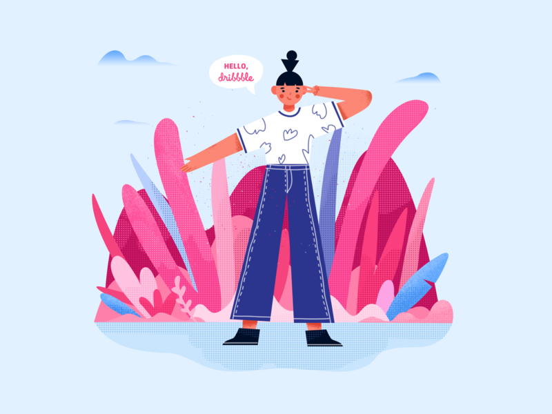 Hello Dribbble design ui illustration
