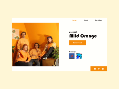 Mild Orange - Website redesign mild orange redesign ux clean minimal concept ui flat design website music rock band
