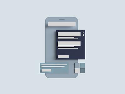 Clay Mockup dailyui illustration ui simple clean design adobe app 3d dimension render clay mockup