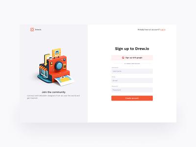 Sign up page | Daily UI 001 figmadesign cleanui 3d uiux ui design minimal dailyuic dailyui