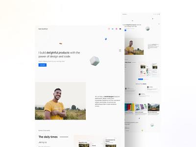 Portfolio Landing page | Daily UI 003 website web design cleanui ui uiux design portfolio landing page minimal dailyui 004 daily ui 004