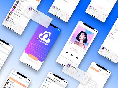 Design of the Cloud Music mobile app mobile app music cloud debut