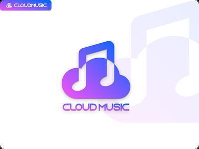 lOGO branding music cloud logo