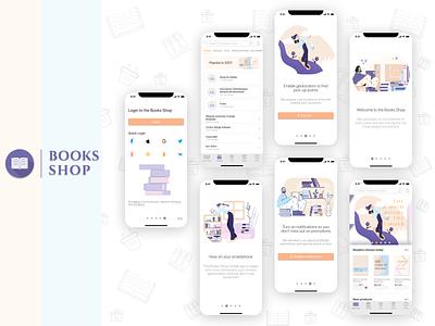Book Store Mobile Application Design books shop design