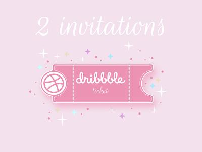 Invitations design figma vector illustraion ticket dribbble invite