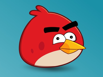 The Red Angry Bird black blue red drawings ipad affinity designer angry birds