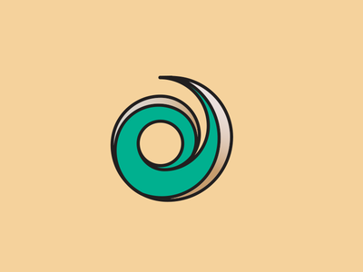 Spindle  creative spin creation social content green letter p branding logo
