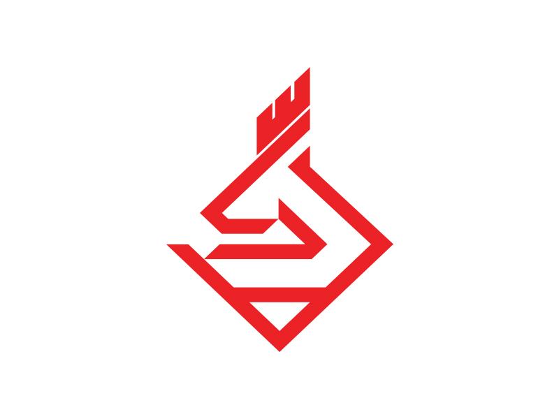 Cubii negative space crown fire animal icon brand branding bold deer elk logo