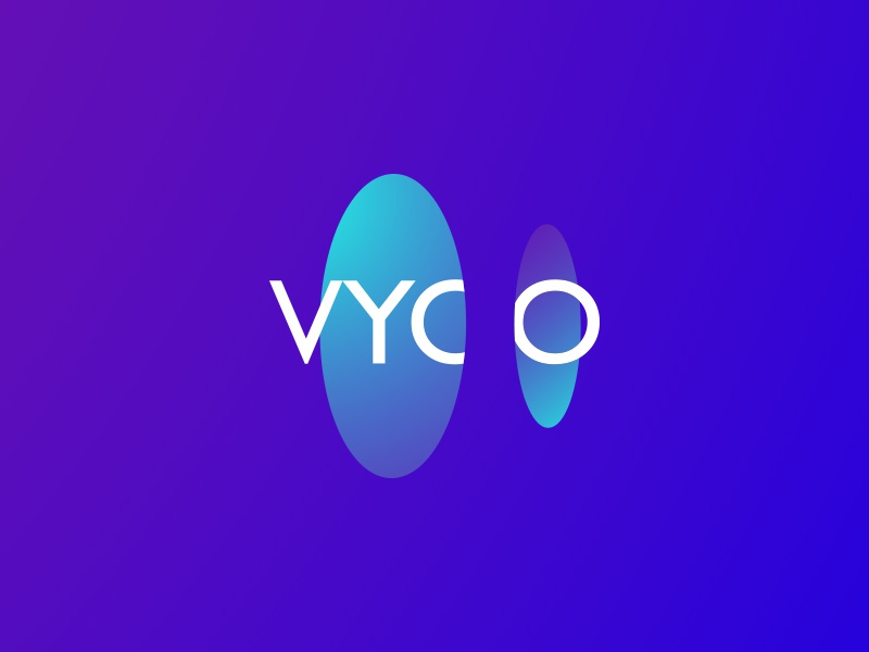 Vyoo abstract circle tech mobile identity brand branding vr ar logo