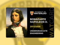 University of Waterloo Student ID Concept