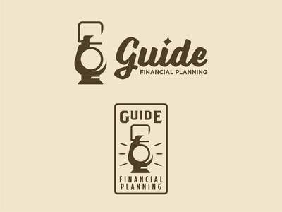 Guide Financial Planning` financial advisor guide lantern logo