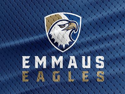 Emmaus Eagles iowa eagle college sports design logo