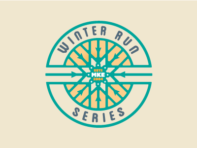 Winter Run Series sports race logo