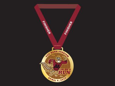 Goldy's Run Finisher Medal university medal minnesota logo race