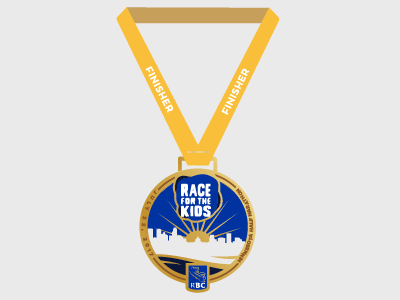 RBC Race for the Kids Half Marathon Finisher Medal medal minnesota logo race