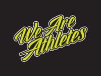 We Are Athletes wordmark