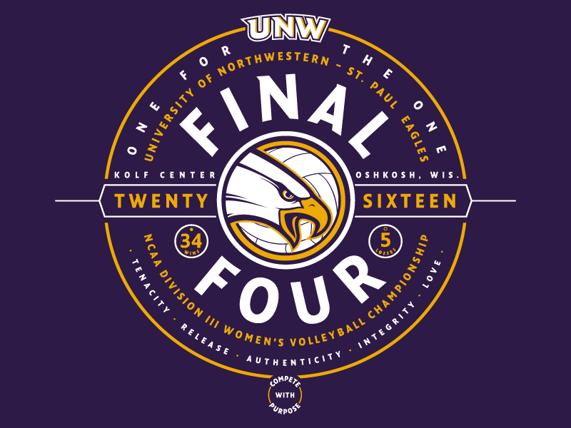 Volleyball Final Four Shirt minnesota wisconsin tournament bracket championship ncaa purple eagle badge sports volleyball