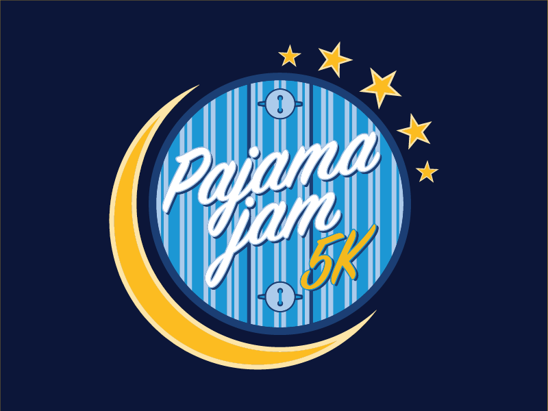Pajama Jam 5K event pajamas run 5k wisconsin logo race