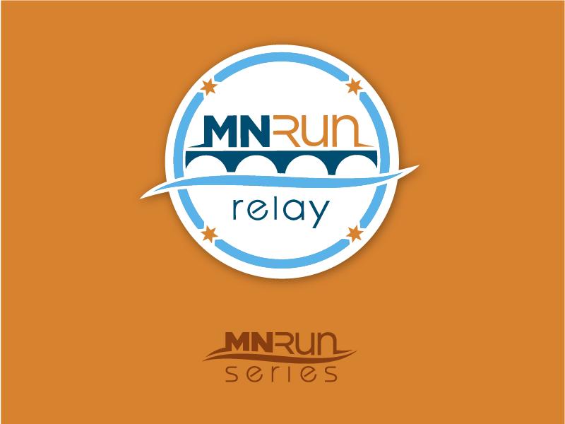 MN Run Relay Logo stone arch bridge minneapolis minnesota river water bridge brand relay marathon race