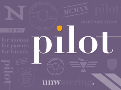 """Pilot"" magazine masthead & brand elements for UNW"
