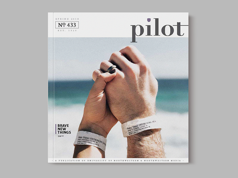 Pilot Magazine Cover magazine eagle university purple didot shield wordmark masthead