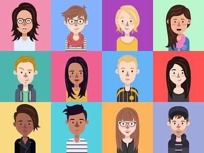 Team Avatars portrait people team avatars