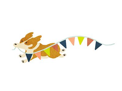 Party Corgi run party dog corgi