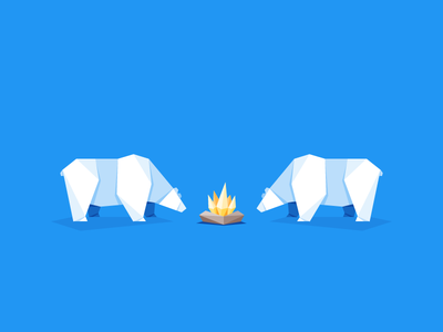 Polar Paper paper fold bonfire arctic fire bear polar bears origami