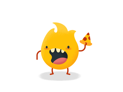 Hungry Fire Monster hungry monster pizza fire
