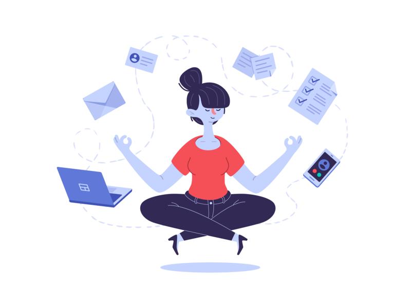 Your work on autopilot streak meditate zen relax autopilot