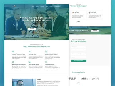 Intaxed - Finance, Accounting & Tax Consulting Company sketch desktop layout landing interface simple minimal clean design web ui ux