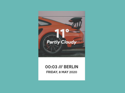 Partly Cloudy | Rainmeter Skin ui rainmeter design
